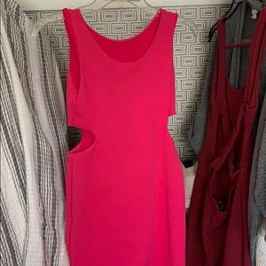 Hot pink cocktail dress